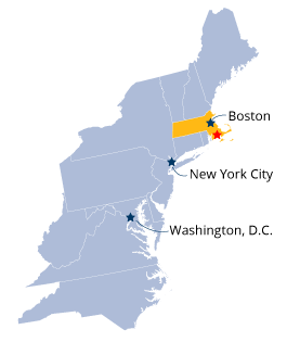 UMass D proximity to Boston and New York