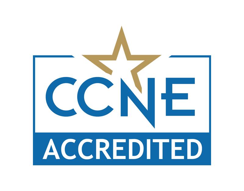 CCNE Accredited - white space