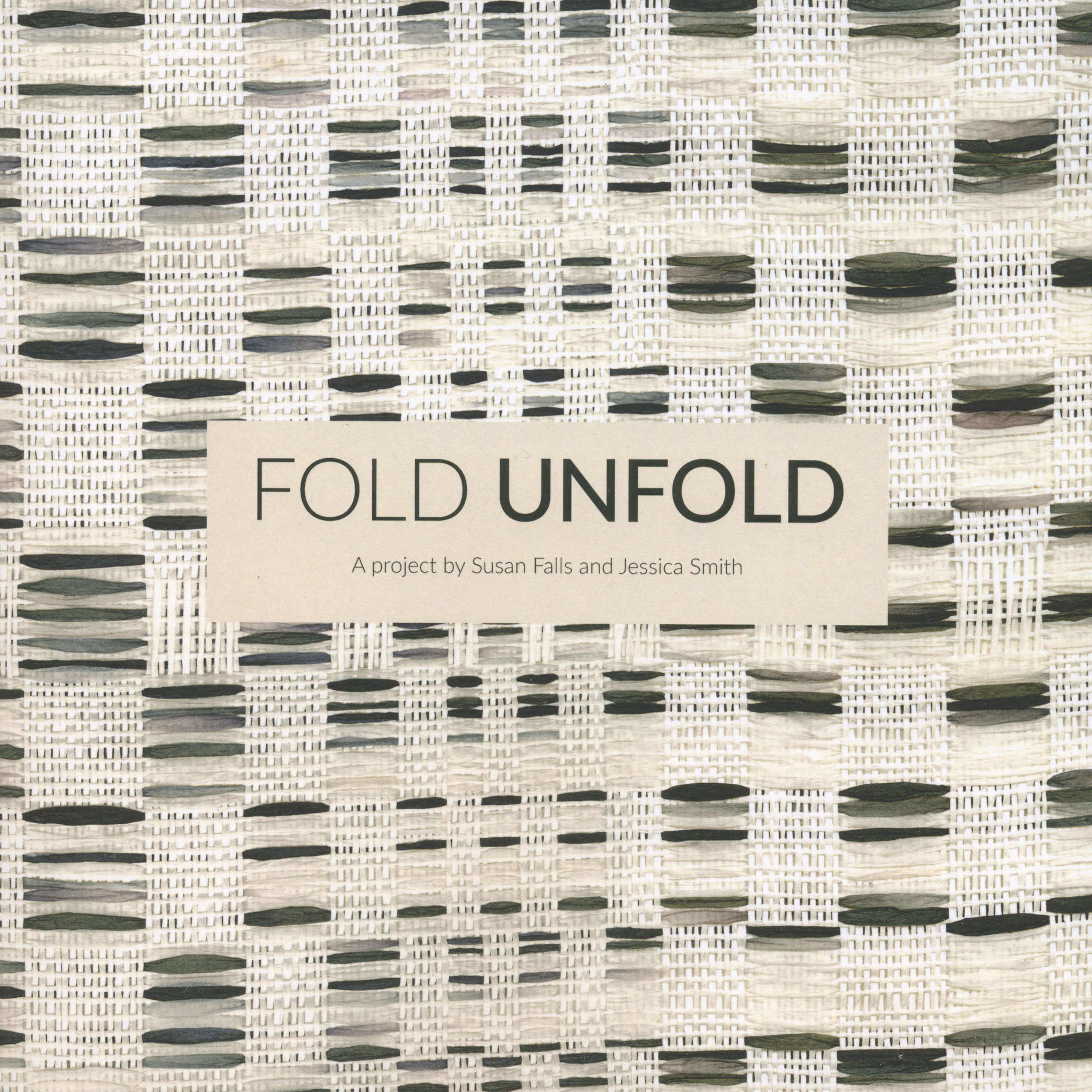 Fold Unfold Exhibition Catalogue cover