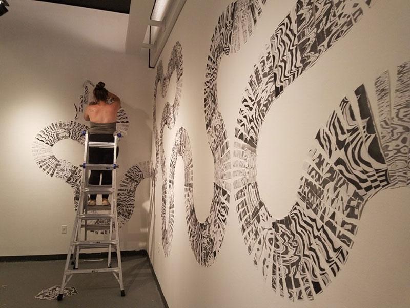 Launching; Art + Design Foundations Exhibition installation