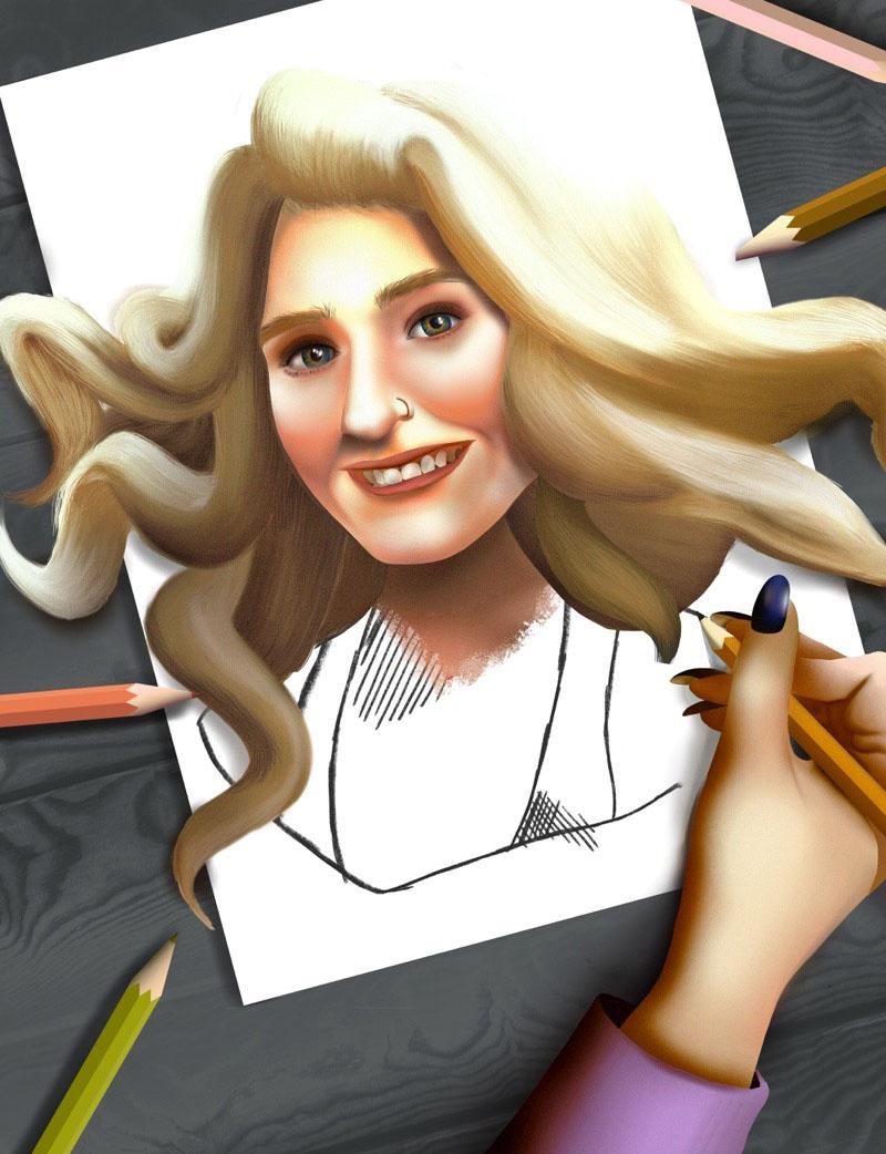 Stevilyn Dybowski self portrait