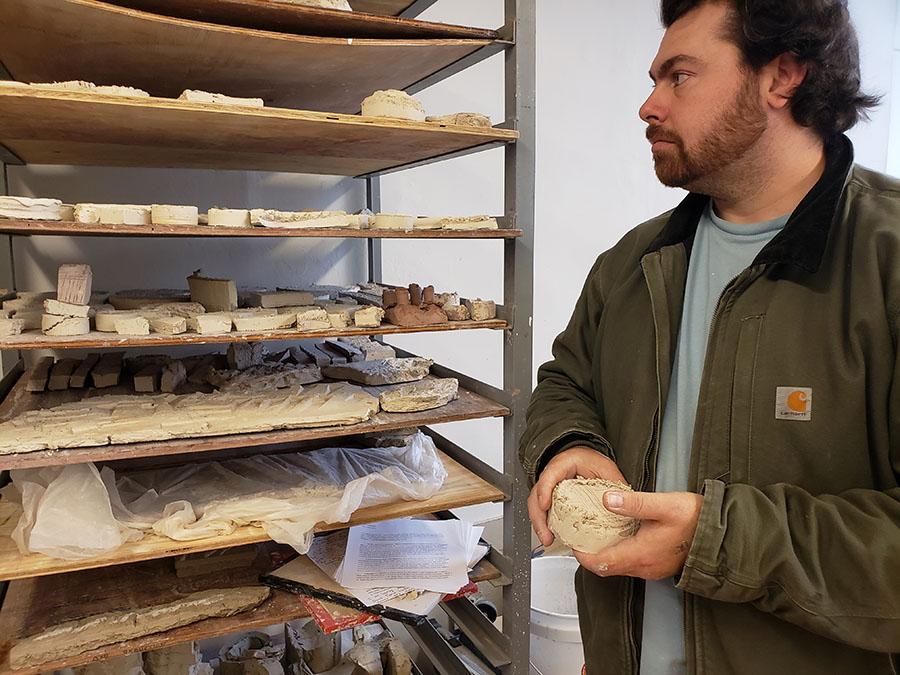 Christopher Thomas Smith in his studio
