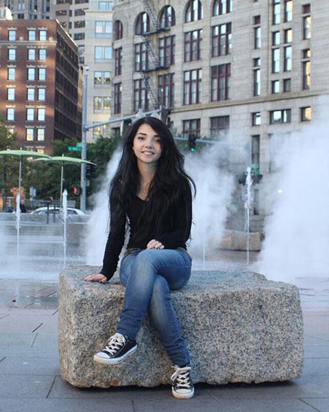 Art History student Mariah Tarentino