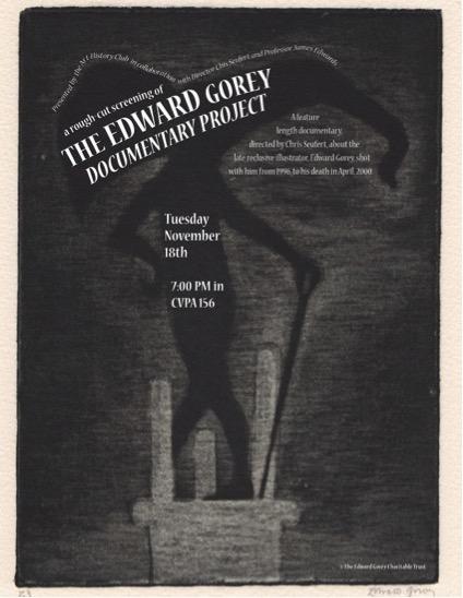 Edward Gorey poster