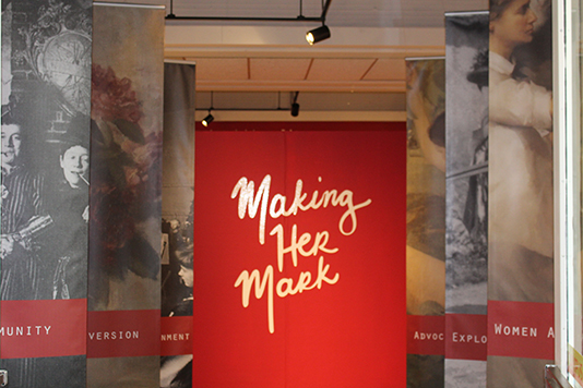 Making Her Mark Gallery Banner Image