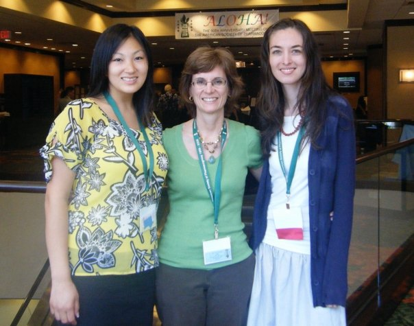 ASP 2009 Honolulu poster session. Christine Dao, Dr. Catherine Neto, and Laura Bystrom (left to right)