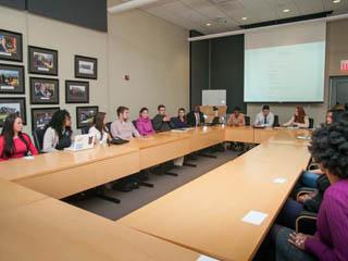 Enactus meeting around the board table 2012