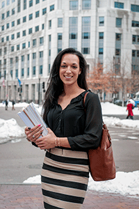 Accounting major Lauren Soares '14 interned at KMPG, Inc., in Boston