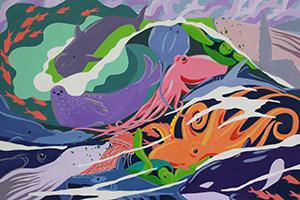 illustration of ocean