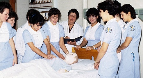 Ora with Nursing Students 1980's