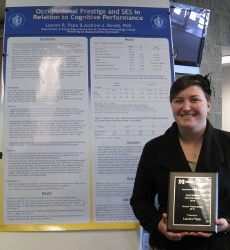 Lauren Papa, Psychology student awarded scholarship for Age-Related research