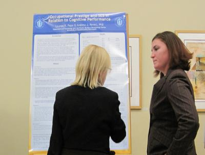 Psychology Student Lauren Papa presenting poster at 2012 NEPA