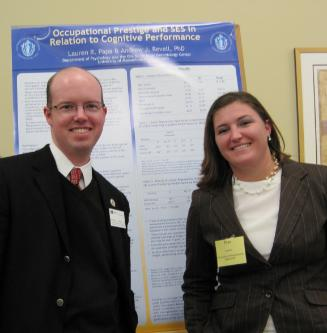 Dr. Andrew Revell and Psychology student Lauren Papa at NEPA 2012