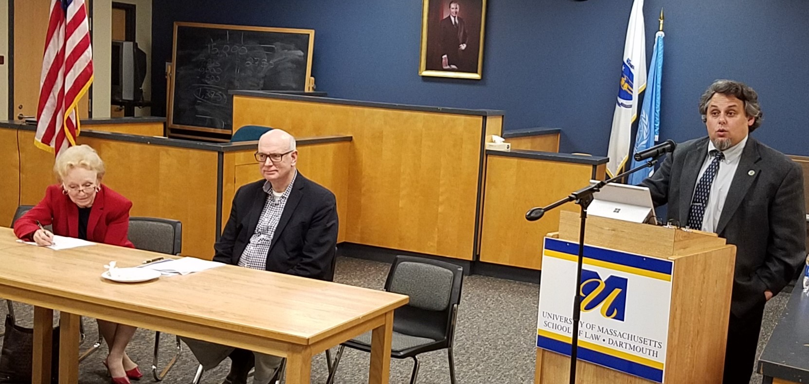 Lecture at Law School by Dr. Steven B. Lichtman, Oct. 26, 2016, with Law Professors Duncan & Rudko