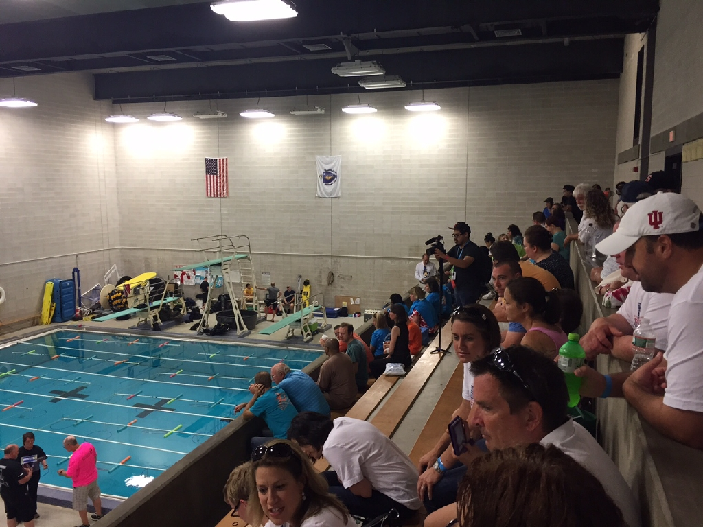 Viewing SeaPerch Challenge at pool