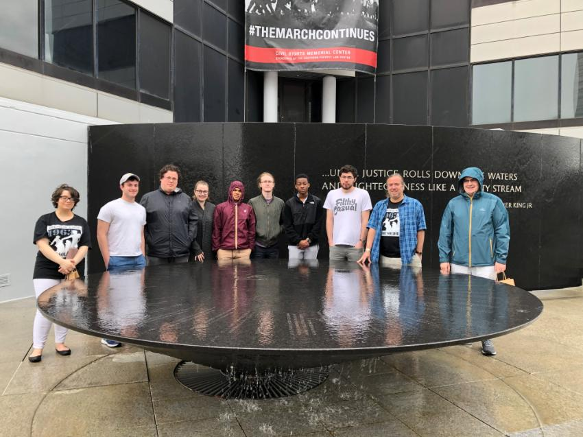 Students posing at Southern Poverty Law Center