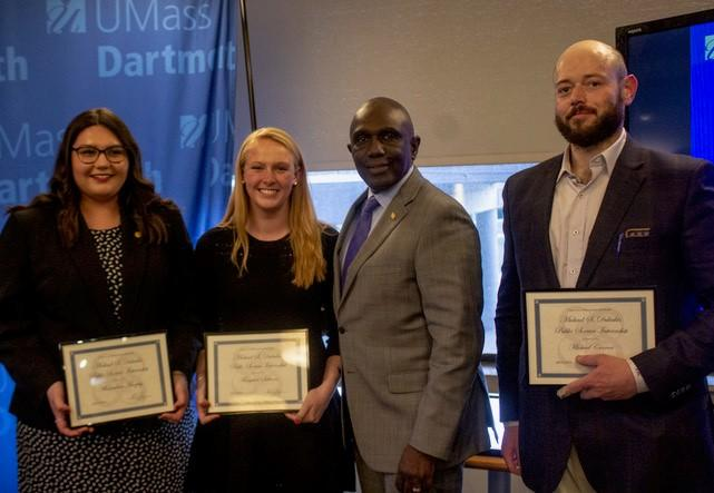 Student award winners with Chancellor